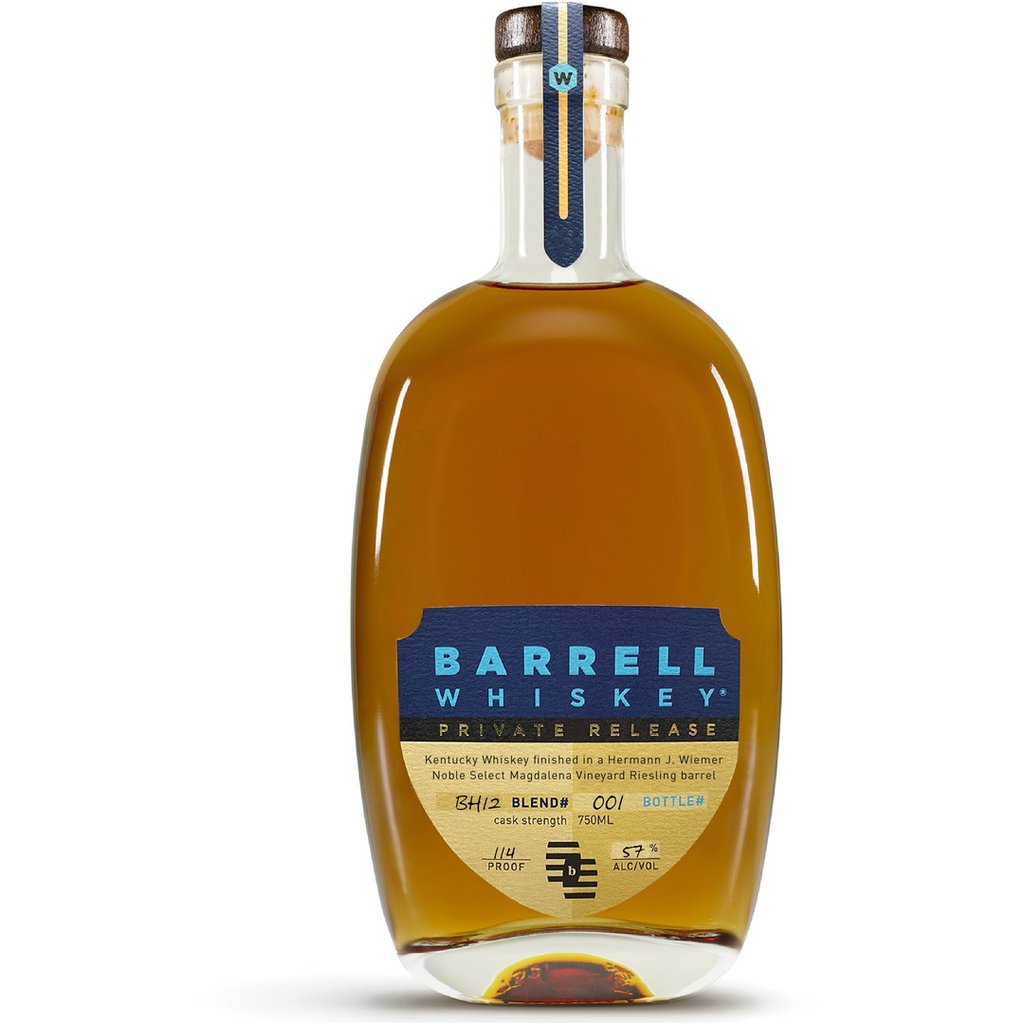 Barrell Whiskey Private Release BH12 Finished In A Hermann J. Wiemer Noble Select Magdalena Vineyard Riesling Barrel